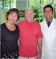 Dr. Maricarmen and Dr. Julian Conejo With Client - Dental Testimonials - Colina Dental Review